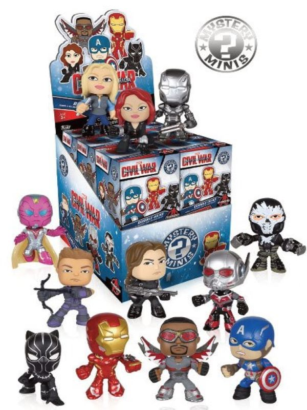 Captain America Civel War Mystery Mini figures