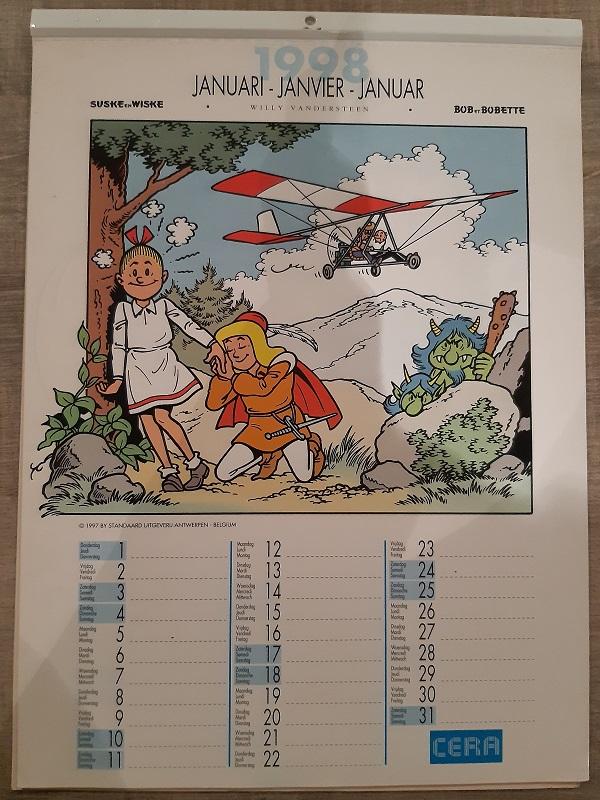 Suske en Wiske Kalender 1998